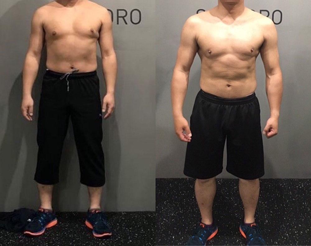 40代、男性 〜細マッチョになりたくてBEYONDへ〜 肩と腕の凹凸が目立つようになった!